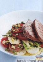 Фото к рецепту: Салат из картофеля, помидоров и стручковой фасоли