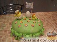 Фото к рецепту: Торт с цыплятами
