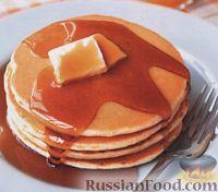 Фото к рецепту: Блины с фруктовым сиропом