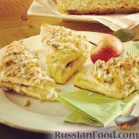Фото к рецепту: Конвертики с яблоками и грецкими орехами