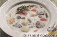Фото к рецепту: Сливочный суп с грибами