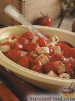 Фото к рецепту: Соте из помидоров и сыра моцарелла
