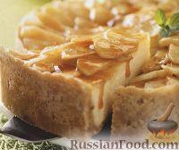 Фото к рецепту: Чизкейк с яблоками