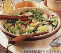 Фото к рецепту: Легкий салат из ромэна, груши, кешью, клюквы и лука