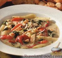 Фото к рецепту: Флорентийский суп с куриным мясом