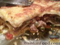 Фото к рецепту: Лазанья с замороженными овощами и фаршем