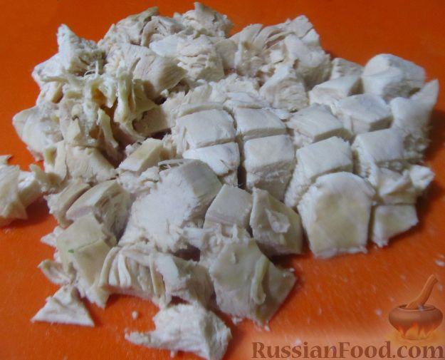 рецепт салата из филе и фасоли