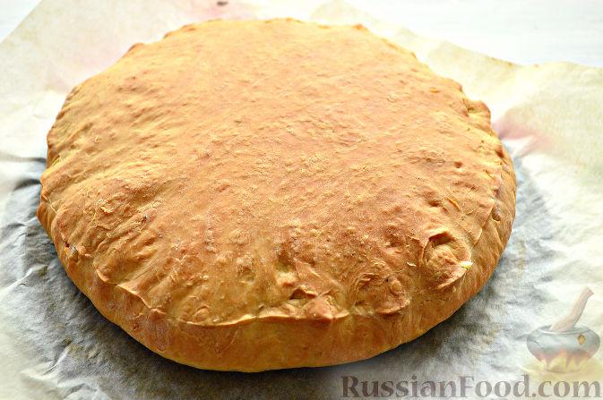 Фото приготовления рецепта: Картошка, запечённая с тыквой, в кефире - шаг №10