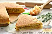 Фото к рецепту: Пирог с квашеной капустой и зеленью