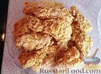 Фото приготовления рецепта: Жареная курица с хрустящей корочкой - шаг №5