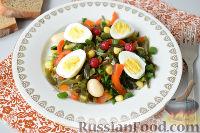 Фото к рецепту: Салат с морской капустой и красной смородиной