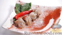 """Фото к рецепту: Мясные шарики в рисовой """"бумаге"""" (димсам)"""
