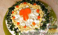 Фото к рецепту: Печёночный торт без майонеза