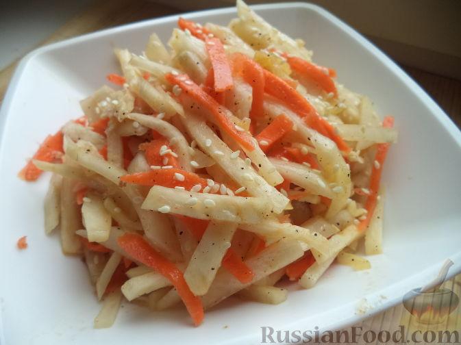 Салат из черной редьки по-корейски