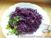 Фото к рецепту: Краснокочанная капуста тушеная