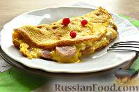 Фото к рецепту: Бризоль с сосиской и сыром