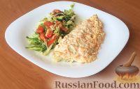 Фото к рецепту: Рыба, запеченная в сметане с морковью