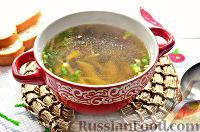 Фото к рецепту: Постный грибной суп с овощами и шпинатными макаронами