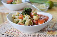 Фото к рецепту: Салат из брокколи и цветной капусты