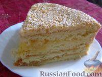 Фото к рецепту: Бисквитный торт с лимонным кремом
