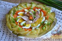 Фото к рецепту: Праздничный салат с курицей и картофелем