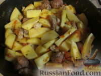 """Фото приготовления рецепта: """"Штрудель"""" с картофелем и мясом - шаг №5"""