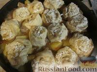 """Фото приготовления рецепта: """"Штрудель"""" с картофелем и мясом - шаг №6"""