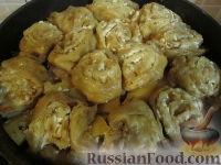 """Фото приготовления рецепта: """"Штрудель"""" с картофелем и мясом - шаг №8"""