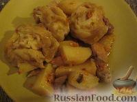 """Фото приготовления рецепта: """"Штрудель"""" с картофелем и мясом - шаг №9"""