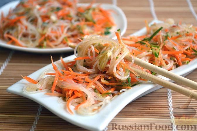 салат огурец фунчоза рецепт с фото
