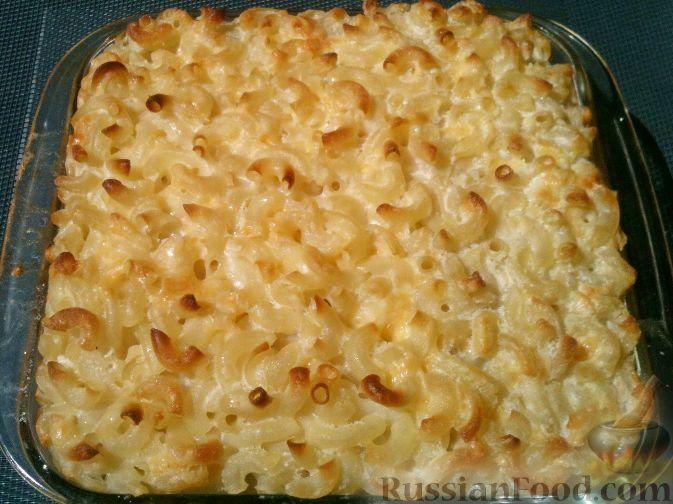макароны с сыром и яйцом в духовке рецепт с фото