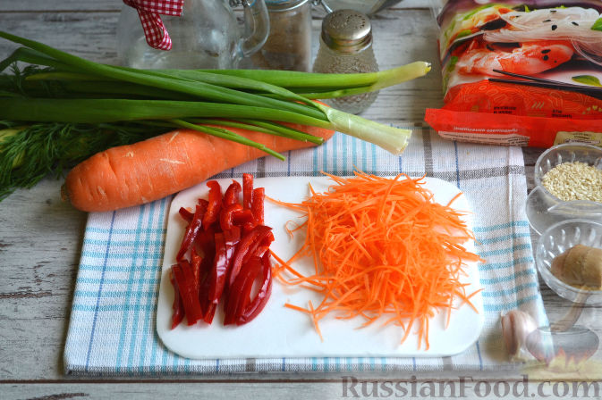 Как сделать фунчозу с овощами