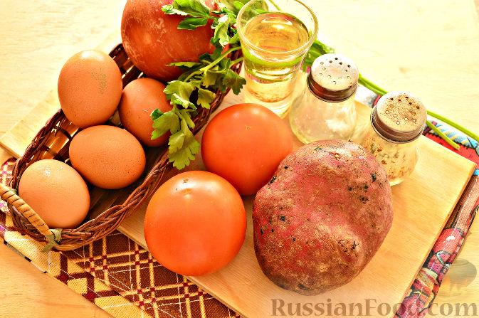 Омлет с молоком и овощами на сковороде рецепт