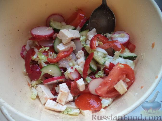 рецепт овощной салат перец сладкий