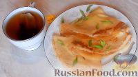 Фото к рецепту: Заварные блины на кефире, с припёком