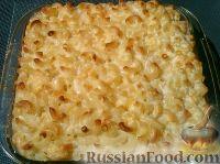 Фото к рецепту: Запеканка из макарон с сыром