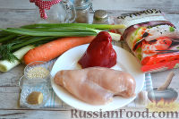 Фото приготовления рецепта: Фунчоза с курицей и овощами - шаг №1