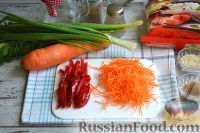 Фото приготовления рецепта: Фунчоза с курицей и овощами - шаг №4