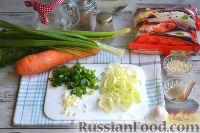 Фото приготовления рецепта: Фунчоза с курицей и овощами - шаг №5