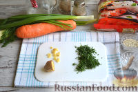 Фото приготовления рецепта: Фунчоза с курицей и овощами - шаг №7