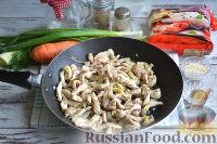 Фото приготовления рецепта: Фунчоза с курицей и овощами - шаг №9