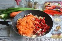 Фото приготовления рецепта: Фунчоза с курицей и овощами - шаг №10