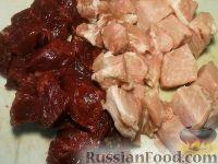 Фото приготовления рецепта: Мясо тушеное с картофелем - шаг №2