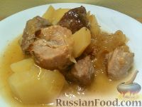 Фото приготовления рецепта: Мясо тушеное с картофелем - шаг №11