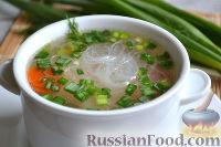 Фото к рецепту: Куриный суп с фунчозой