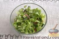 Фото приготовления рецепта: Тарталетки с салатом из горбуши, мяты и авокадо - шаг №10