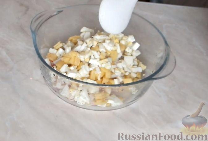 рецепт салата с креветками и кальмарами с фото