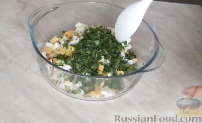 Пошаговый рецепт салата с креветками и кальмарами 195