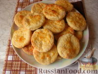 Фото приготовления рецепта: Сырные лепешки - шаг №5