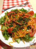 Фото к рецепту: Овощной салат с корейской морковью